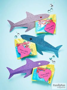 Shark valentine's day cards