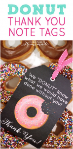 Donut thank you tag