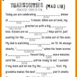 Thanksgiving Day Mad Libs for Kids