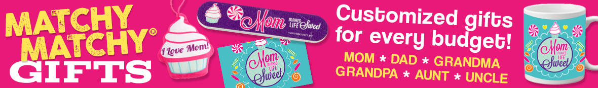 Customized gifts for every budget! Mom, dad, grandma, grandpa, aunt and uncle