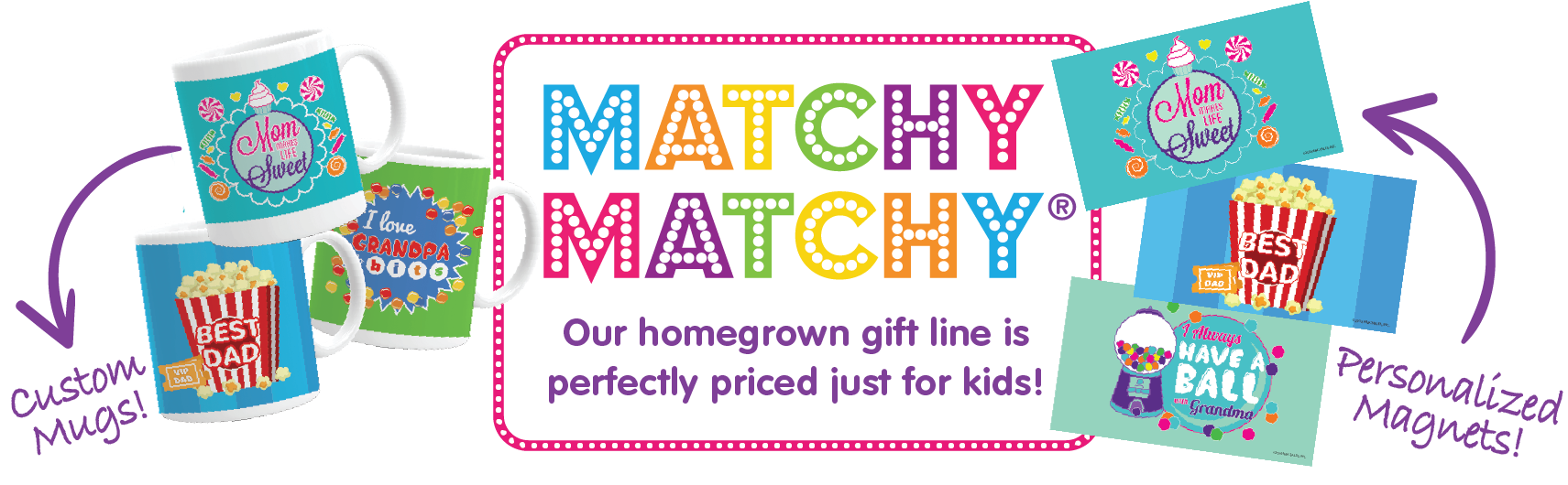 Custom gifts perfectly priced just for kids