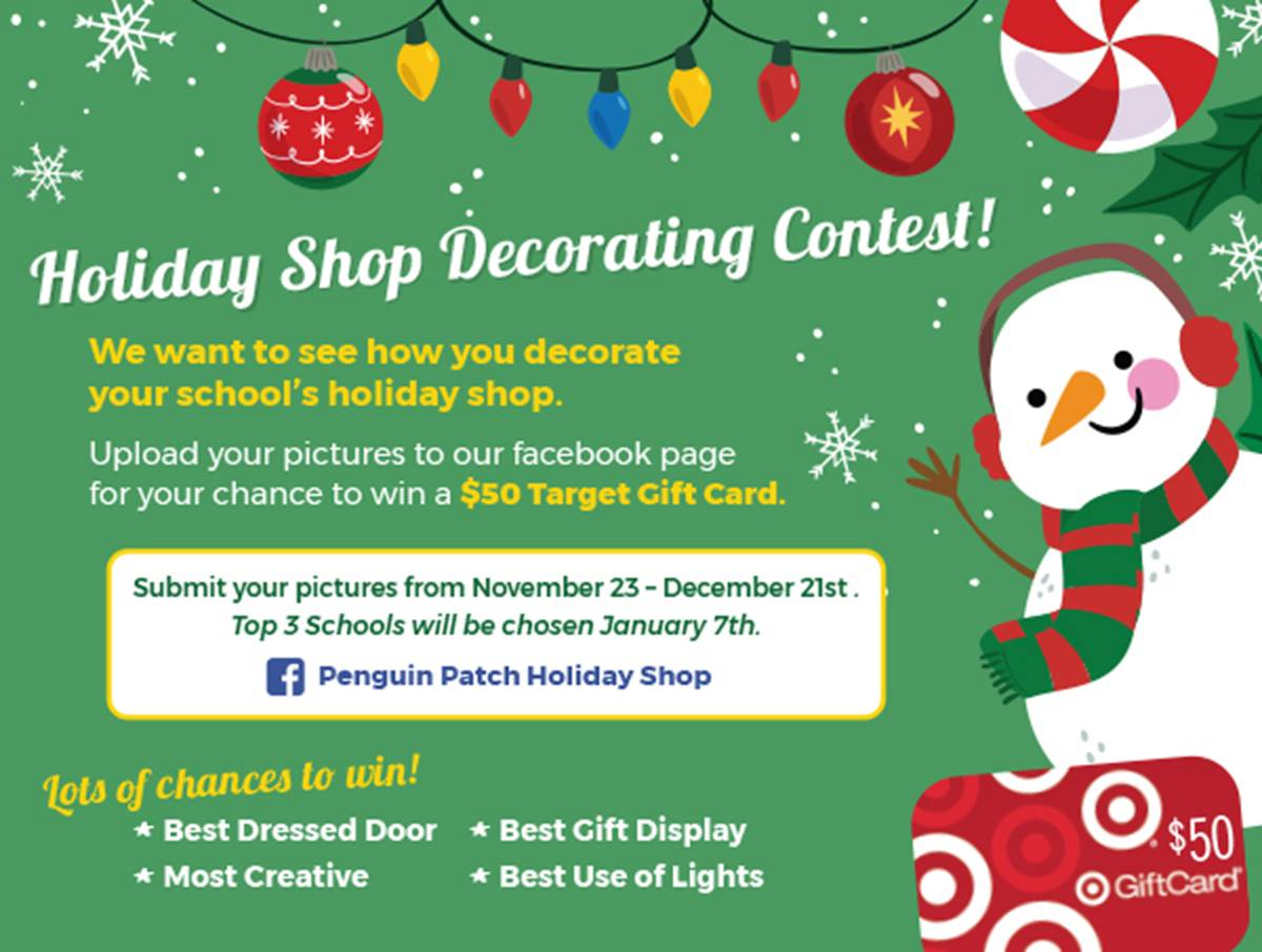 Holiday shop decorating contest