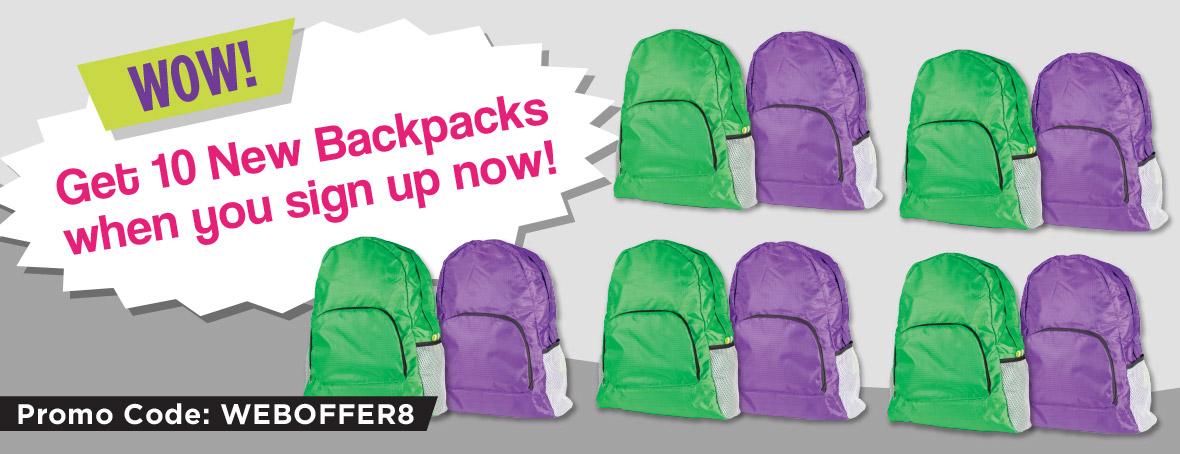 Free Back Packs